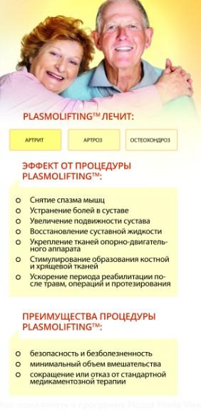 Плазмолифтинг и плазмопунктура в ортопедии для пожилых